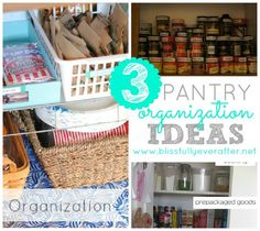 Blissfully Ever After: 3 Kitchen Pantry Organization Tips Kitchen Organization Pantry, Organization Station, Budget Organization, Sewing Room Organization, Kitchen Pantry, Pantry Ideas, Organizing Tips, Organising, Kitchen Tips