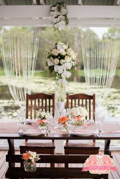Stunning Vintage Wedding! See more party ideas at CatchMyParty.com!