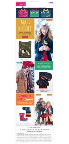 Joules - loving the festive spirit already.  And the nice handwritten typography! #email #design
