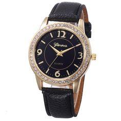 Montre Retro Dial Geneva Watch Women Women Design Dial Leather Band Analog  Geneva Quartz Wrist Watch 88065ca61bc