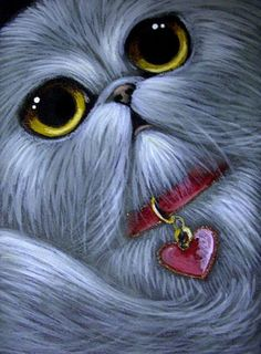 """Silver Persian Cat"" par Cyra R. Cancel"