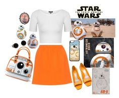 """""""Star Wars: The Force Awakens BB-8"""" by kitten89 ❤ liked on Polyvore featuring Miu Miu, Christian Dior, Topshop, Episode, starwars, contestentry and BB"""