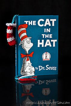 Free pattern  Ravelry: Happy Birthday Dr. Seuss! Cat in the Hat Inspired Bookmark pattern by Catina Anderson