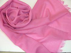 Schals - Wollschal Merinoschal malve rosa strawberry ice - ein Designerstück von textilkreativhof bei DaWanda