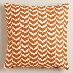 Orange Embroidered Geometric Throw Pillow. Grown up people have things like these. So I've heard. $29.99