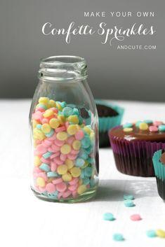 Make your own Bottle of Homemade Confetti Sprinkles