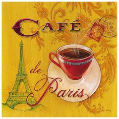Vintage France. Why don't we take breaks in the afternoon to enjoy an expresso and the day?  Lovely tradition.