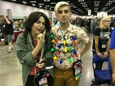 Stranger Things Joyce Beyers, and the lights cosplay