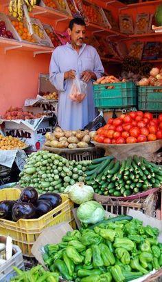 Market in Aswan, Egypt