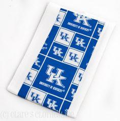 Baby Burp Cloth  University of Kentucky UK by ClaresClothesline, $6.00