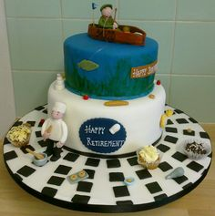 Retiring Pastry Chef - fishing fan cake