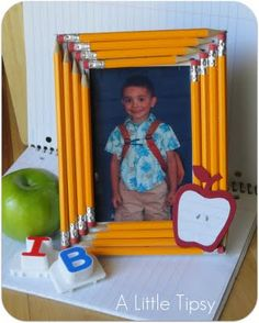 I think this picture frame would really well for either school pictures or as a gift for a teacher.