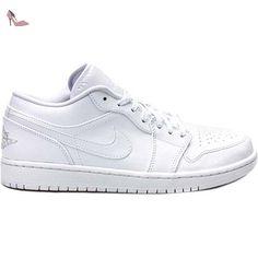 pretty nice c21c6 a63ad Nike Air Jordan 1 Low, Chaussures de Sport Homme, Multicolore-Blanco    Plateado