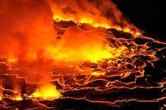 Cráter del volcán Nyiragongo, en la región africana de los Grandes Lagos