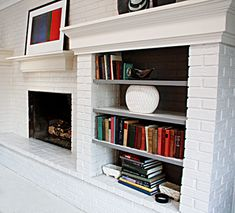 Yes! You Can Paint Your Brick Fireplace