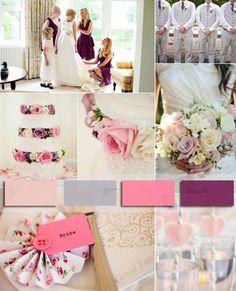 13 hochzeit 2014 purpur pink grau Trendfarbe torte strauss Hochzeit Trendfarbe 2014