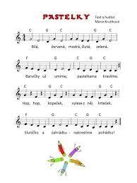 Výsledek obrázku pro písnička poznáváme barvičky Music For Kids, Kids Songs, Music Lessons, Pre School, Preschool Activities, Sheet Music, Crafts For Kids, Education, Motivation