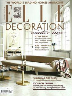 Elle Decoration Interior Design Magazine Home Decorating Shelter Architecture Lifestyle