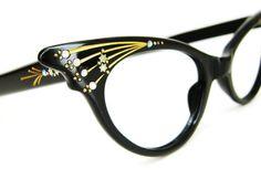 Vintage 50s French Cat Eye Glasses Sunglasses by Vintage50sEyewear