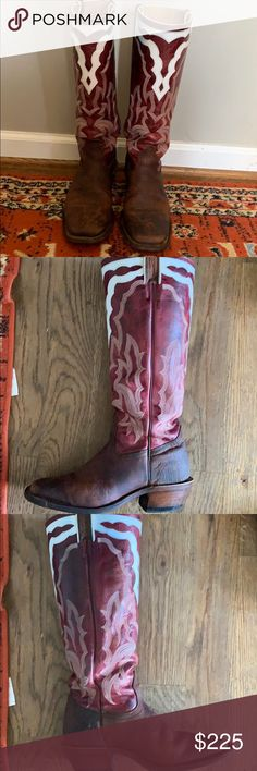 410b60cbbce3be Boulet Women's 7 Buffalo Cowboy Buckaroo Boots Boulet Buffalo leather boots  size 7. 16in shaft