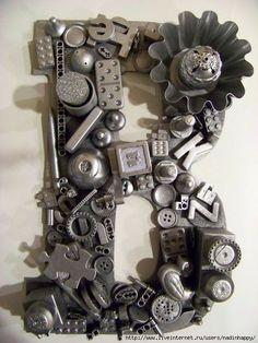 Steampunk 'B' door hanger