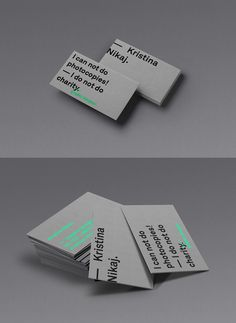 Personal Business Card by Kristina Nikaj