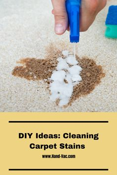 See these secrets, tips and ideas to getting rid of carpet stains. Stain Remover Carpet, Removing Carpet, Carpet Stains, Cleaning Hacks, Rugs On Carpet, Ideas, Thoughts