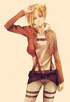 Annie Leonhart - Shingeki no Kyojin. They say she's a sexy Russian girl, I'll say I agree XD. (releasing my inner lesbian. No I'm not actually one.)
