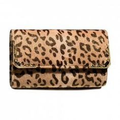 $9.53 Party Women's Clutch With Leopard Print and Metal Design