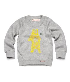 IMPS AND ELFS 0127 Pullover long sleeve | Icy grey melange