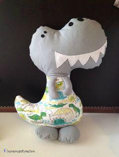 Dinosaur Softie Pillow Plush by HomeMadebyArtemi on Etsy