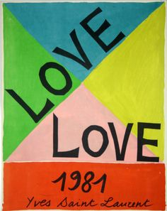 Affiche Love Yves St Laurent 1981 - www.french-vintage-posters.fr