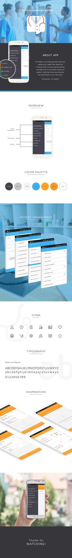 Practice Management Mobile on Behance ui ux app design