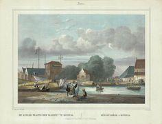 Loading Dock in Batavia, 1844 Loading Dock in Batavia ( Van der Velde 1844 ) Java.4.DE AANLEG PLAATS DER SLOEPEN TE BATAVIA. DÉBARCADÈRE A BATAVIA. A very fine and detailed mid-19th century lithograph by Paulus...