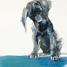 Pet Portrait Pet Painting Pet Art Mac Pup Hand by JacheStudio, $645.00
