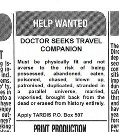 Help Wanted - Doctor Who