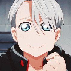 yuri on ice /// Gif /// Kawaii Viktor Katsuki Yuri, Yuuri Katsuki, Anime Manga, Anime Guys, Anime Art, Yuri On Ice, Yuri X Victor, Tsurezure Children, Kamigami No Asobi