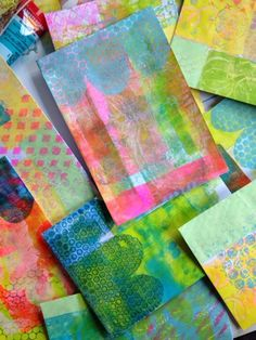 Gelli plate fun with acrylic paint and americana paint