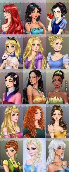 Disney Princesses (by mari945)