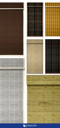 Give your room some texture and whole lot of eclectic flair with Woven Wood Shades from Blinds.com.