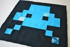 Space Invaders Quilt - SO COOL!!