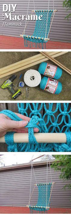 How to make a #DIY crocheted hammock. Neat idea!