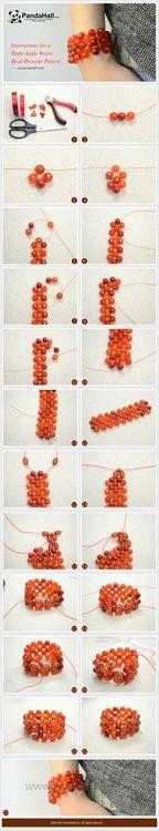 Jewelry Making Tutorial-DIY Right Angle Weave Bead Bracelet Pattern | PandaHall Beads Jewelry Blog