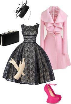 #pinktrench #blackboots #blackdress