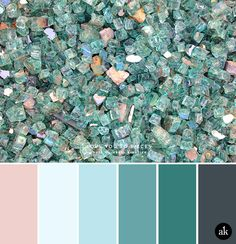 A glass-inspired color palette