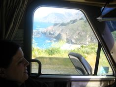 Pic through the driver's window of our RV while we drive the PCH, California!
