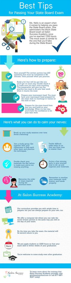 25 best cosmetology images on pinterest hair dos cosmetology check out our new infographic for tips on how you can prepare to pass your california state board cosmetology exam fandeluxe Image collections