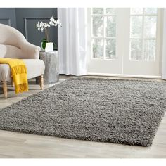 Athens Shag Dark Gray 4 ft. x 6 ft. Area Rug