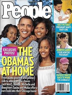 Barack Obama People Magazine The Obamas New Life November 24 2008 Barak Michelle Barack Obama Pictures, Barack Obama Family, Malia Obama, Michelle Obama, First Black President, Mr President, People Magazine, Jennifer Garner Pregnant, Pregnant Man