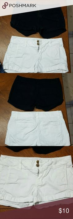 Womens black and white shorts 2 for 1 express shorts. 1 black pair, 1 white pair. Gently used. Express Shorts